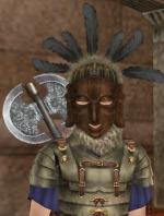 ヨルバ王国の神官の仮面、海の民の鎧、ラブリュスが標準スタイル